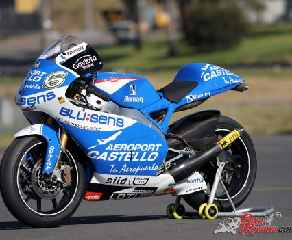 The ex-Eugene Laverty Aprilia RSW250 GP racer