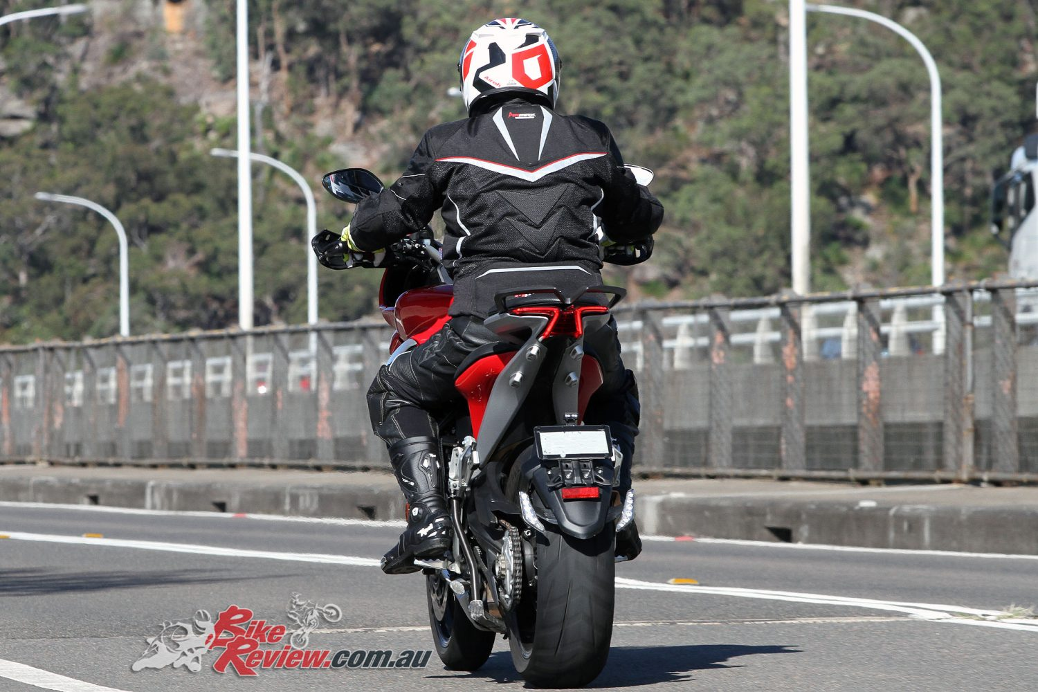 Simon wearing his Xpd XPS3 boots on the MV Agusta Turismo Veloce Lusso