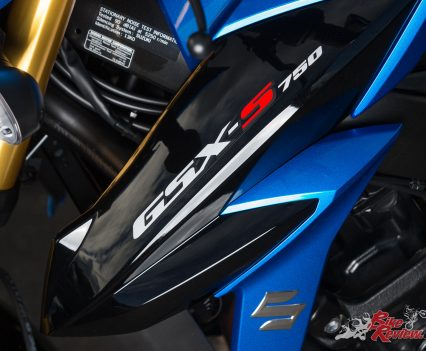 The GSX-S750 takes the K5 GSX-R750 based powerplant and offers a new mid-weight nakedbike