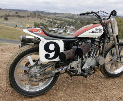 Eddy's XR 750 is the real deal, imported to Australia to compete and ridden by Jay Springsteen.