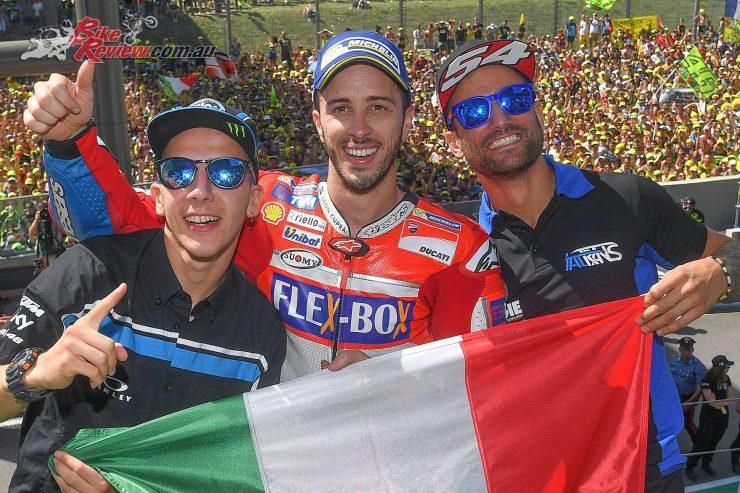 Mugello MotoGP Italian Triple - Andrea Migno, Andrea Dovizioso, Mattia Pasini