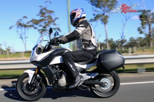 2017 CFMoto 650MT highway riding