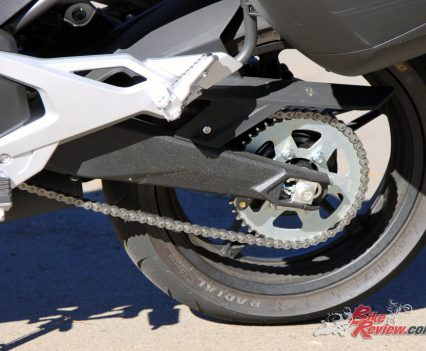 2017 CFMoto 650MT swingarm, pillion peg and rear sprocket