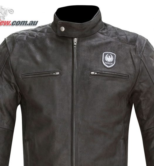 Merlin Hixon Leather Jacket - Black