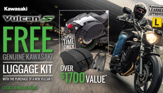 Free Light Touring Kit with every new Vulcan S*