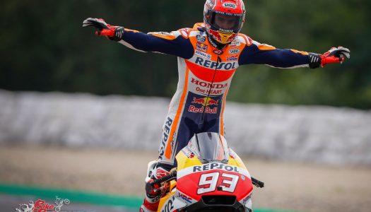 Marquez blitzes flag-to-flag at Brno MotoGP