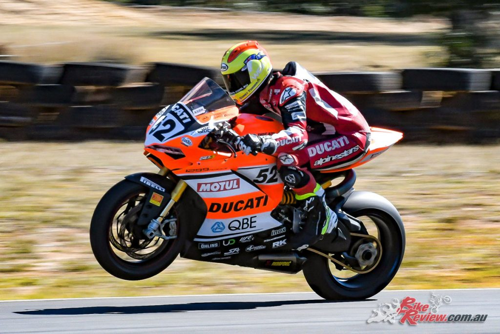 Corey Turner sporting the Motul logo on his Ducati during the 2017 ASBK. Motul have been proud sponsors of the ASBK since 2015.