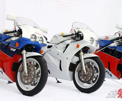 A collection of Honda VFR750R RC30s
