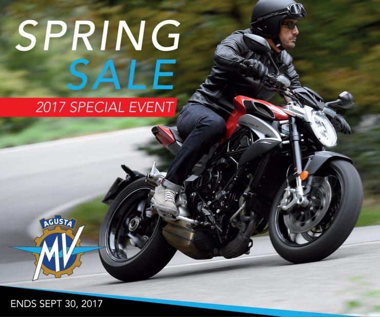 2017 MV Agusta Spring Sale