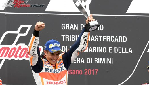 Marquez wins Misano to match Dovizioso on points