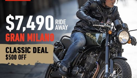 SWM Classic Deal On Now – $500 off Ride Away Pricing