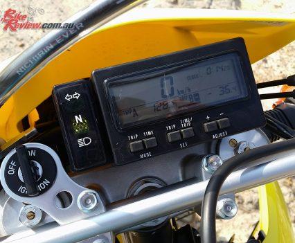 2018 Suzuki DR-Z400 multi-function dash