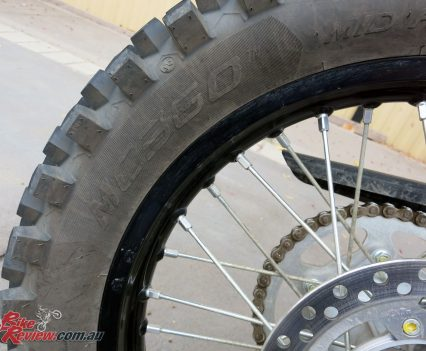 Metzeler MC360 rubber on the DR-Z400E