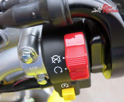 DR-Z400E right switchblock
