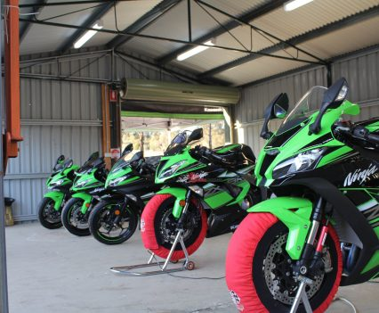 Kawasaki Ride Day test bikes