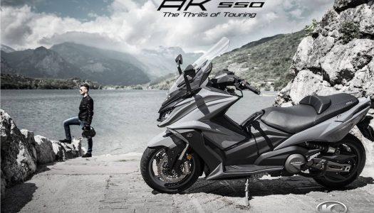 Kymco 2018 AK550 Maxi-Scooter announced