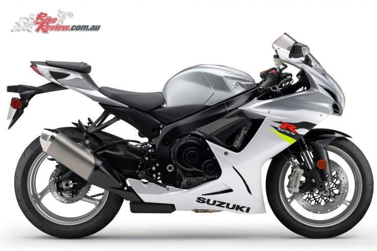 2018 Suzuki GSX-R600 - Metallic Mystic Silver/Pearl Glacier White