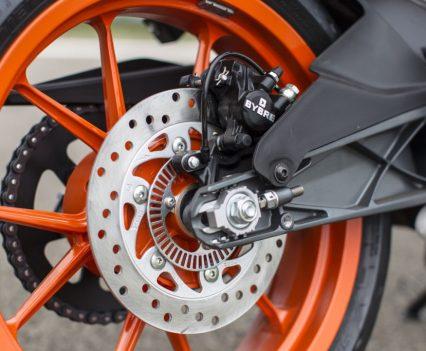 2017 KTM RC 390 rear wheel and brake