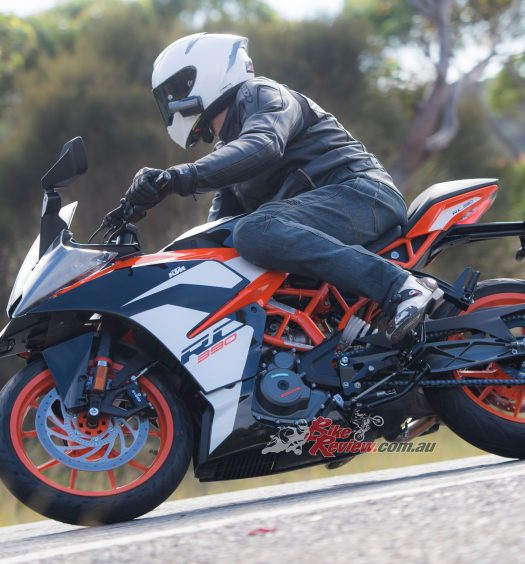 KTM's 2017 RC 390 shares the Duke's chassis and powerplant but offers a significantly different ride thanks to a few ergonomic and geometry tweaks