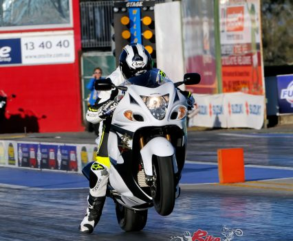 What better place to launch an updated Hayabusa than at the drag strip