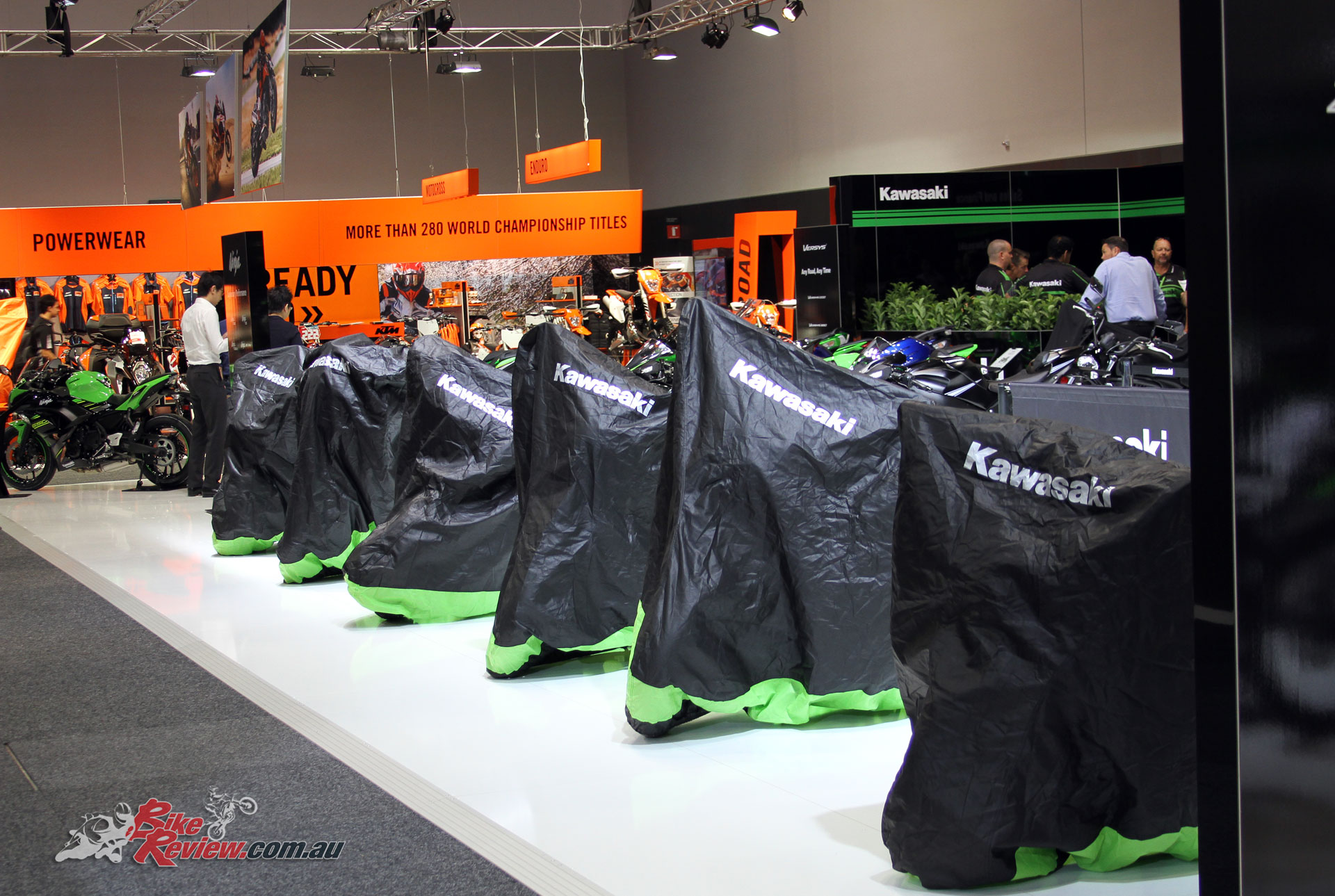 Kawasaki did an early unveil prior to the gates opening, meaning all new models were already on display for the first wave