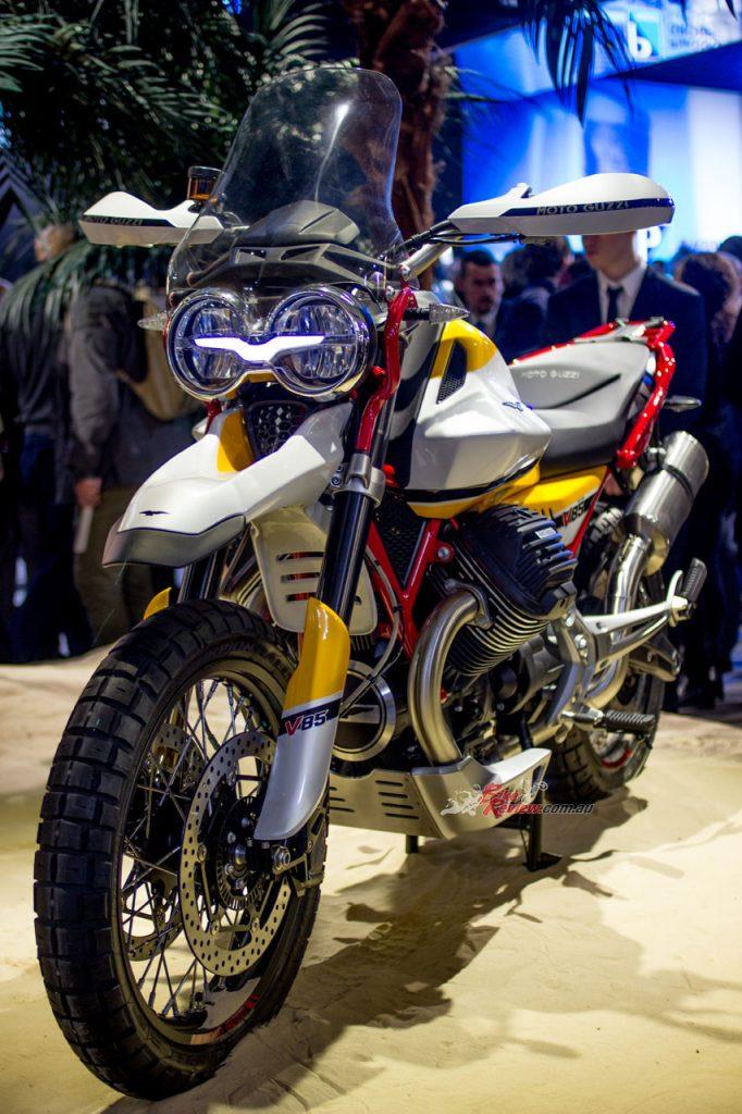 The Moto Guzzi V85 was unveiled by Piaggio
