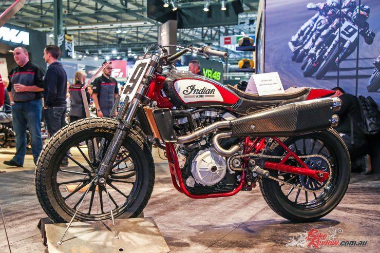 Indian's custom FTR 1200 flat tracker bike at EICMA