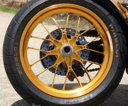 Carrozzeria anodised forged alloy wheel,