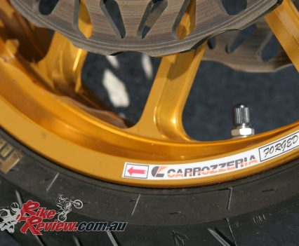 Carrozzeria anodised forged alloy wheels