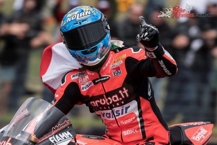 Marco Melandri takes the 2018 WSBK opening race win