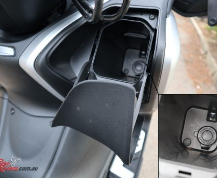 A glove box also allows easy access to items, and has a power socket, meaning you could charge a phone in there