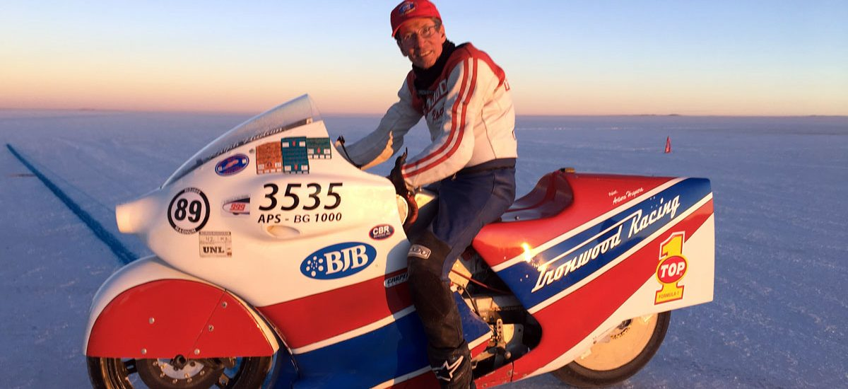 At the original time of writing Ralph Hudson was hoping his 284.361mph on the Uyuni salt lake will be ratified as an FIM world record for partially-streamlined motorcycles