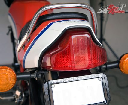 Yamaha RZ350 taillight and tail