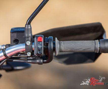 Australian 2018 SWM Superdual X Launch - Mount Buller - Bike Review - Right switchblock controls