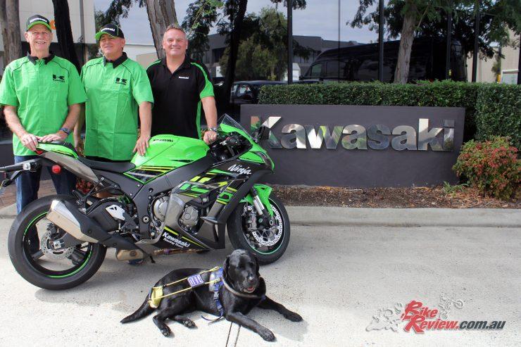 Ben Felten with his Kawasaki Ninja ZX-10R