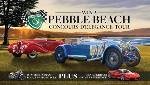 Win a trip to Pebble Beach Concours D'Elegance USA & an Indian Scout!