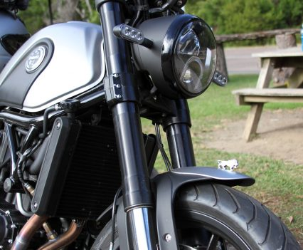 50mm front forks offer good all-round performance
