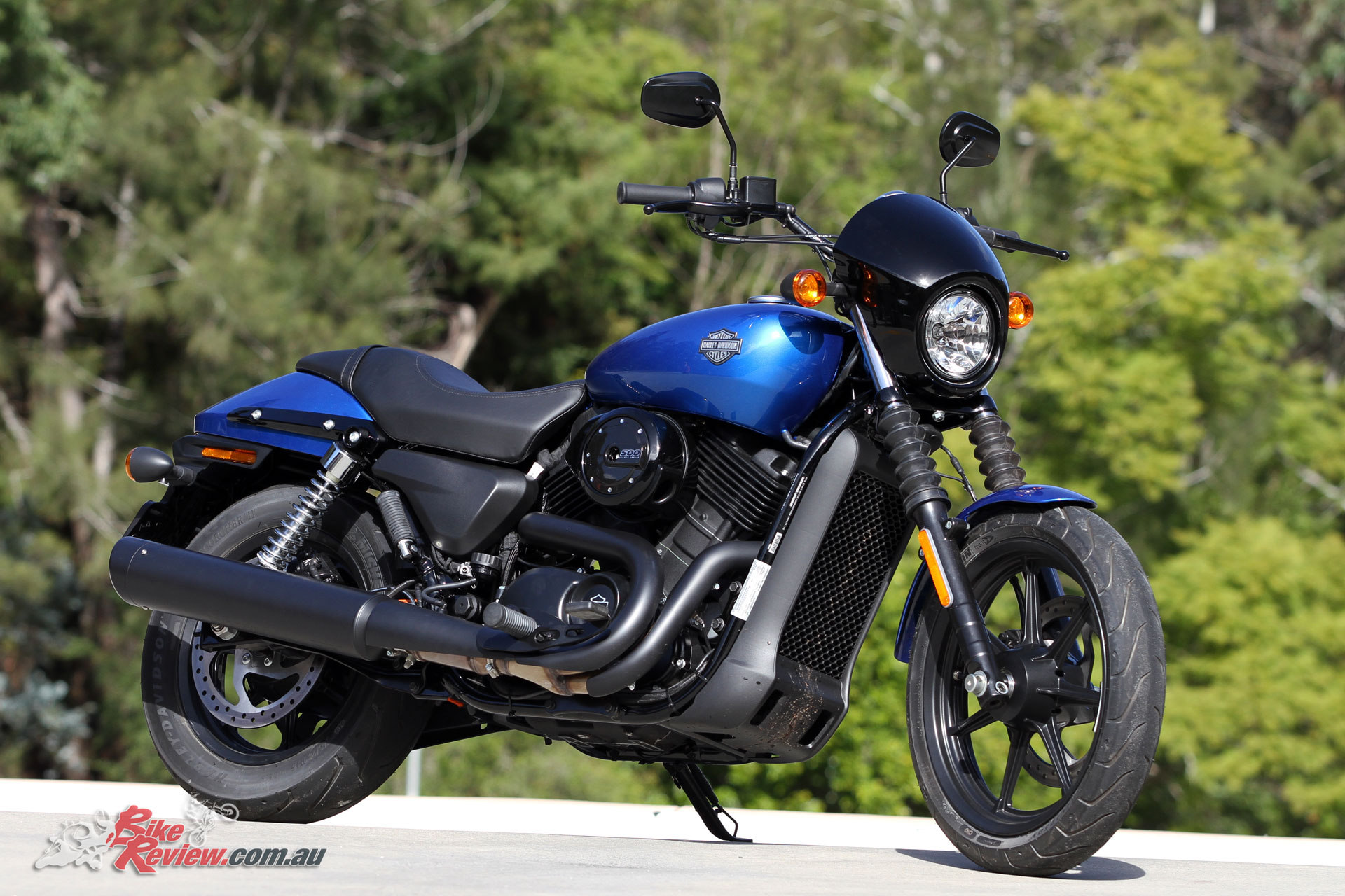 Harley-Davidson's Street 500 in Electric Blue