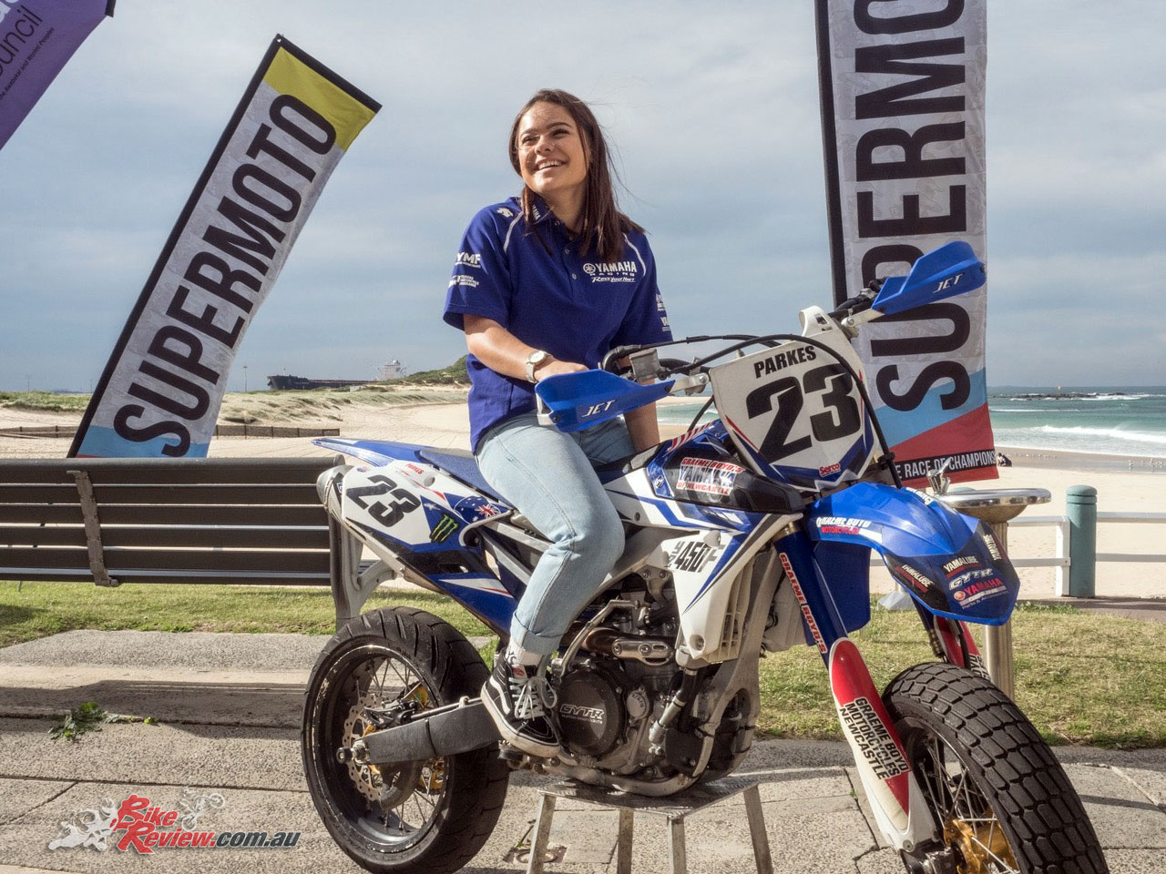 Keegan Pickering at the 2018 Newcastle International SuperMoto launch