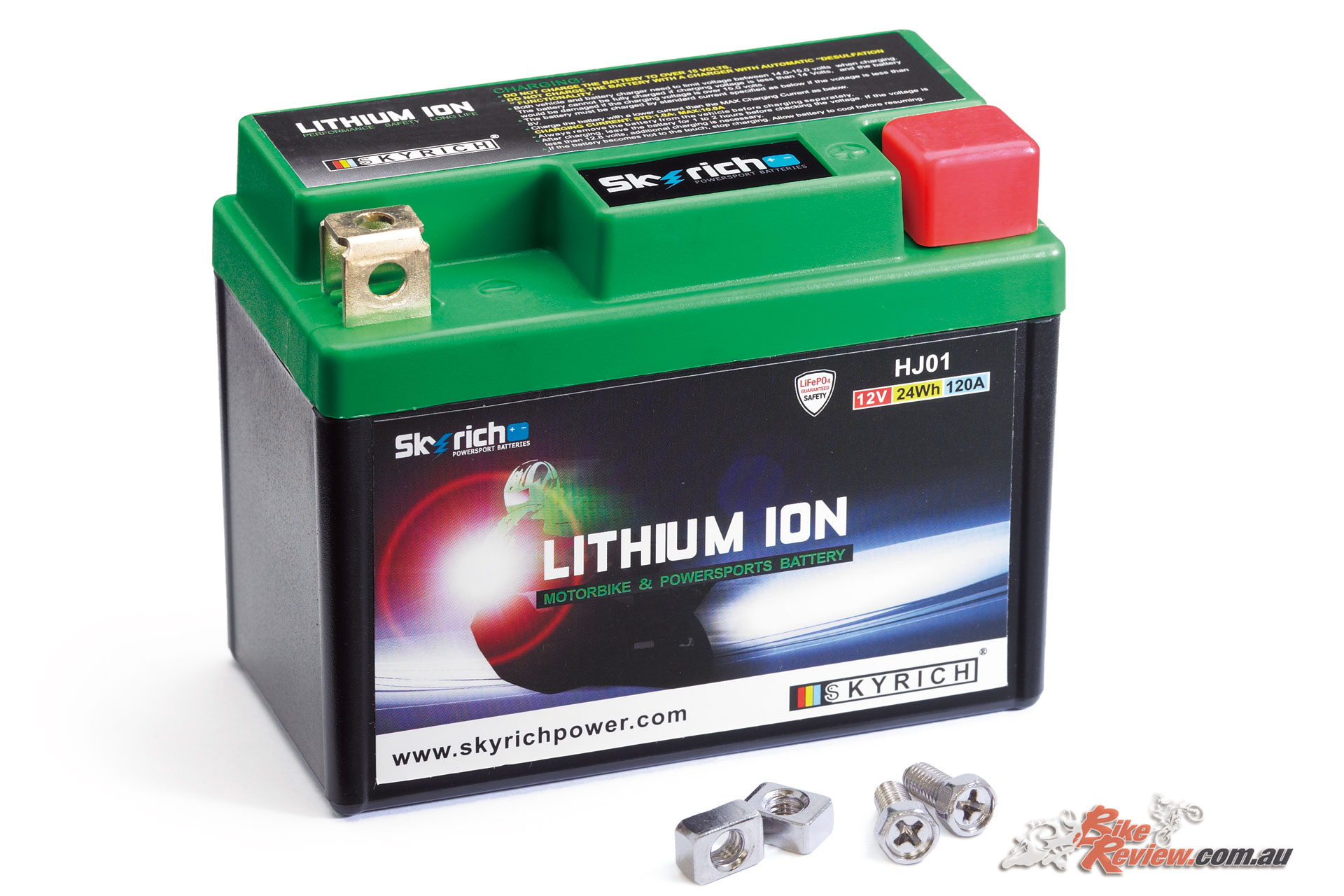 A Lithium Ion battery weighs only 500g