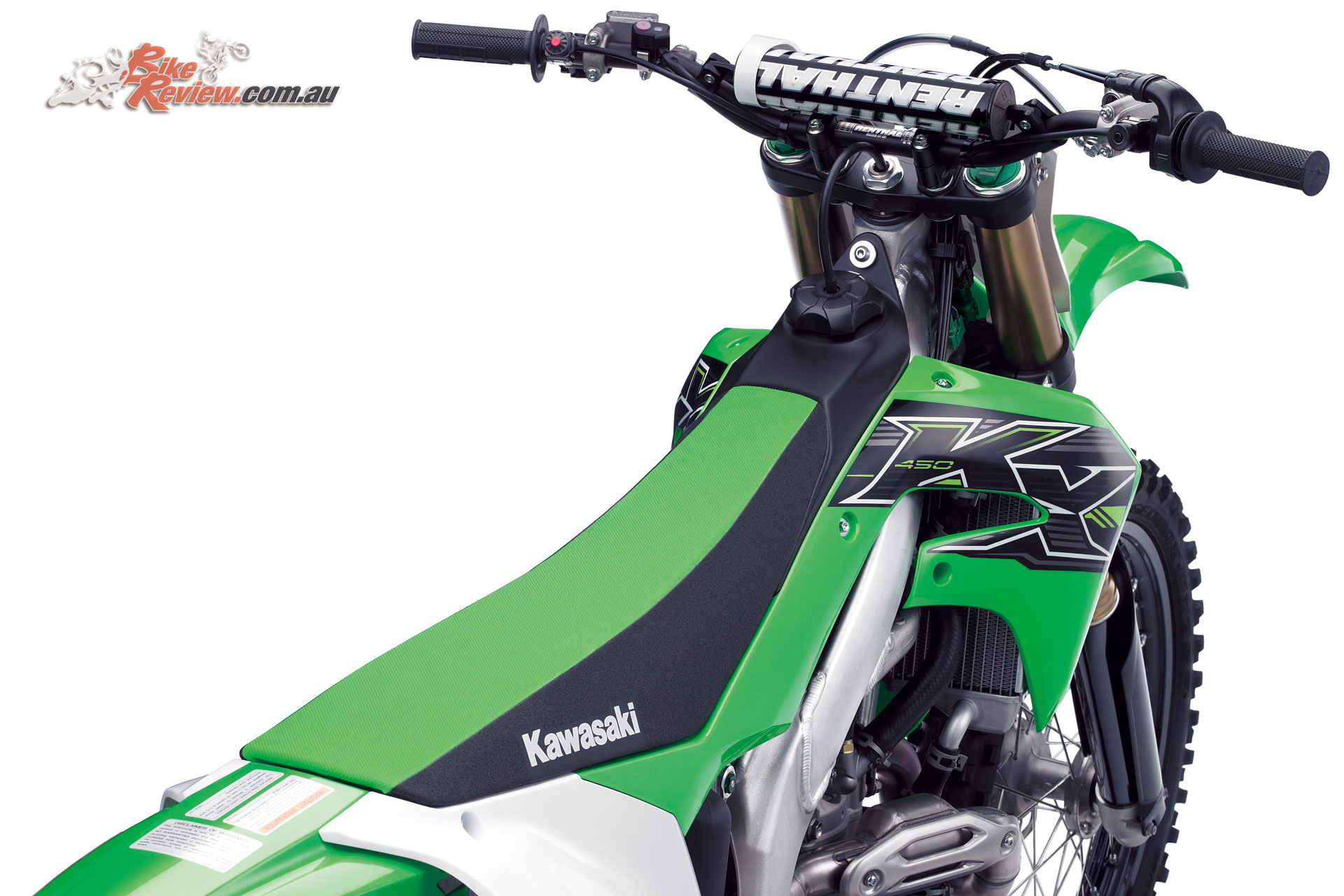 Adjustable triple-clamp gives four Renthal 7/8 bar positions, with footpegs also adjustable on the 2019 KX450