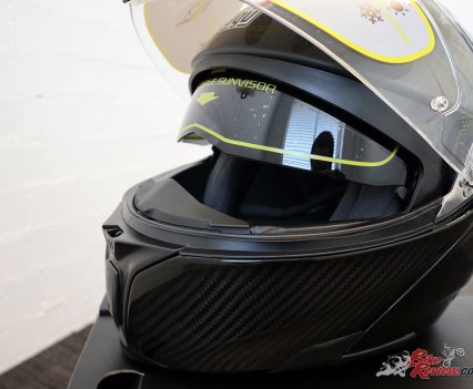 The inner flip down visor is great and offers good glare protection and extra wind protection when the visor is open.