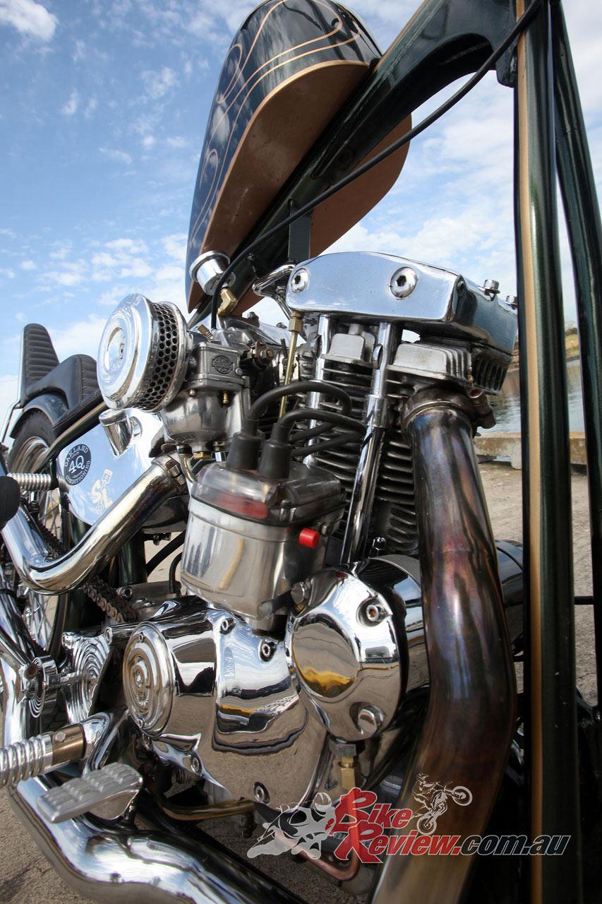 Custom Exhaust System 1979 Iron Head Engine