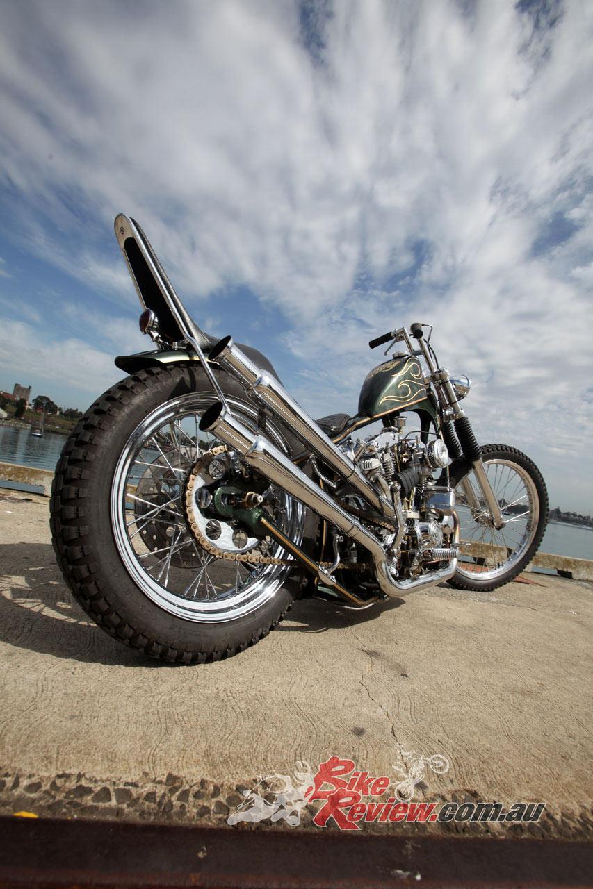 Custom Bike: Greenade, 1979 Harley-Davidson Sportster Chopper - Bike