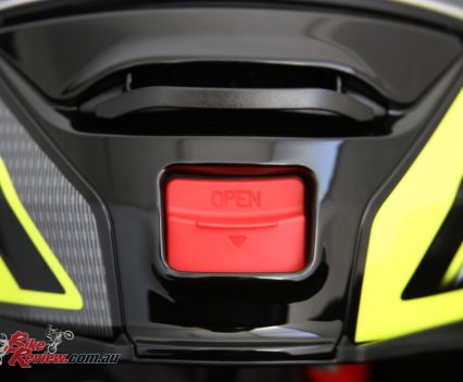Chin vent and flip-up latch to open the helmet