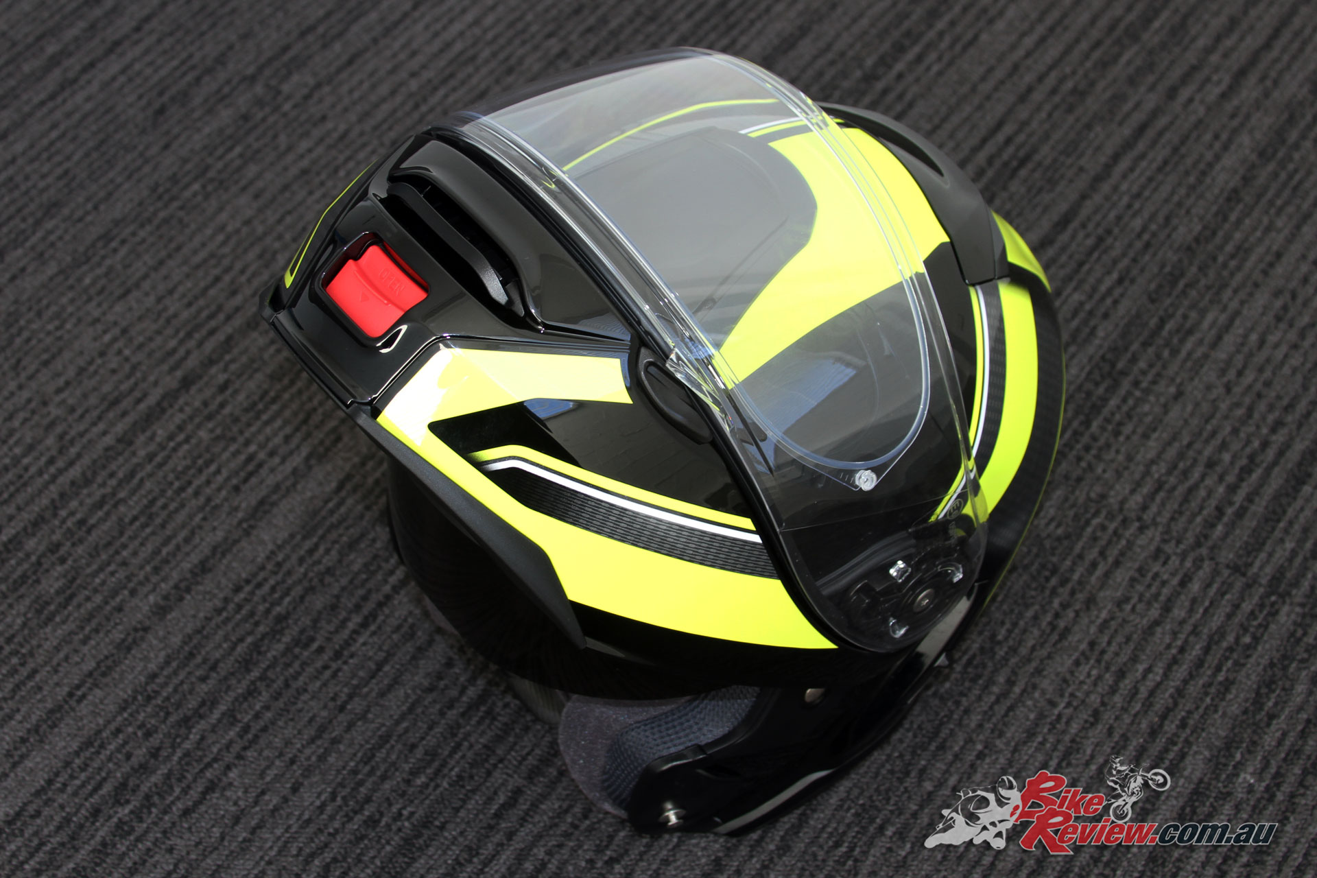Shoei Neotec II in flipped-up configuration