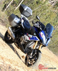 The S 1000 XR features the famous BMW 999cc in-line four-cylinder, tuned for low to mid-range grunt.