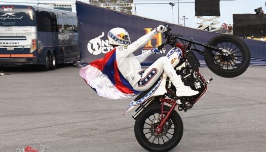 Travis Pastrana pays tribute to Evel Knievel