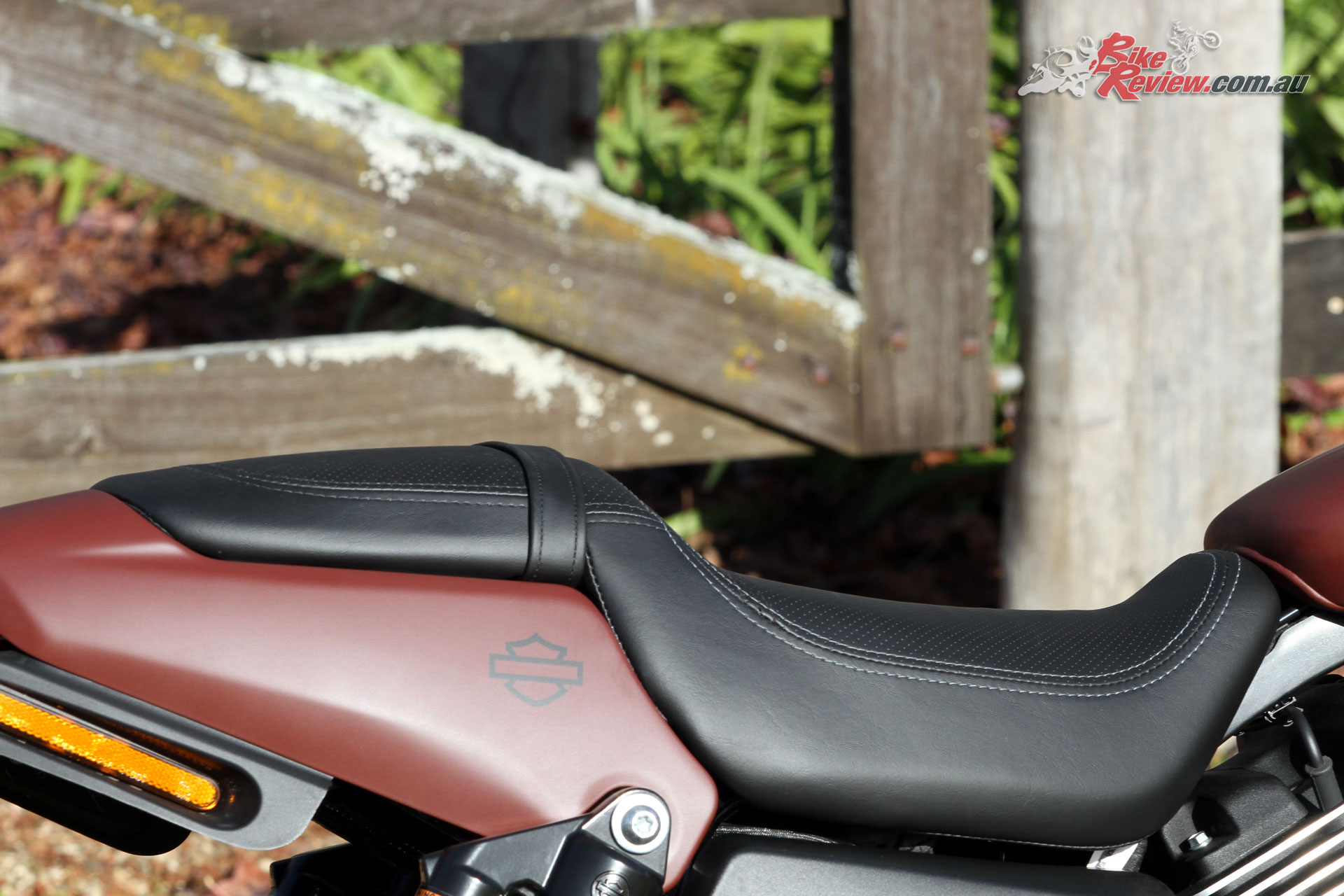 Seat height is 765mm making for an easy reach to the ground and inviting perch to a wide variety of rider sizes