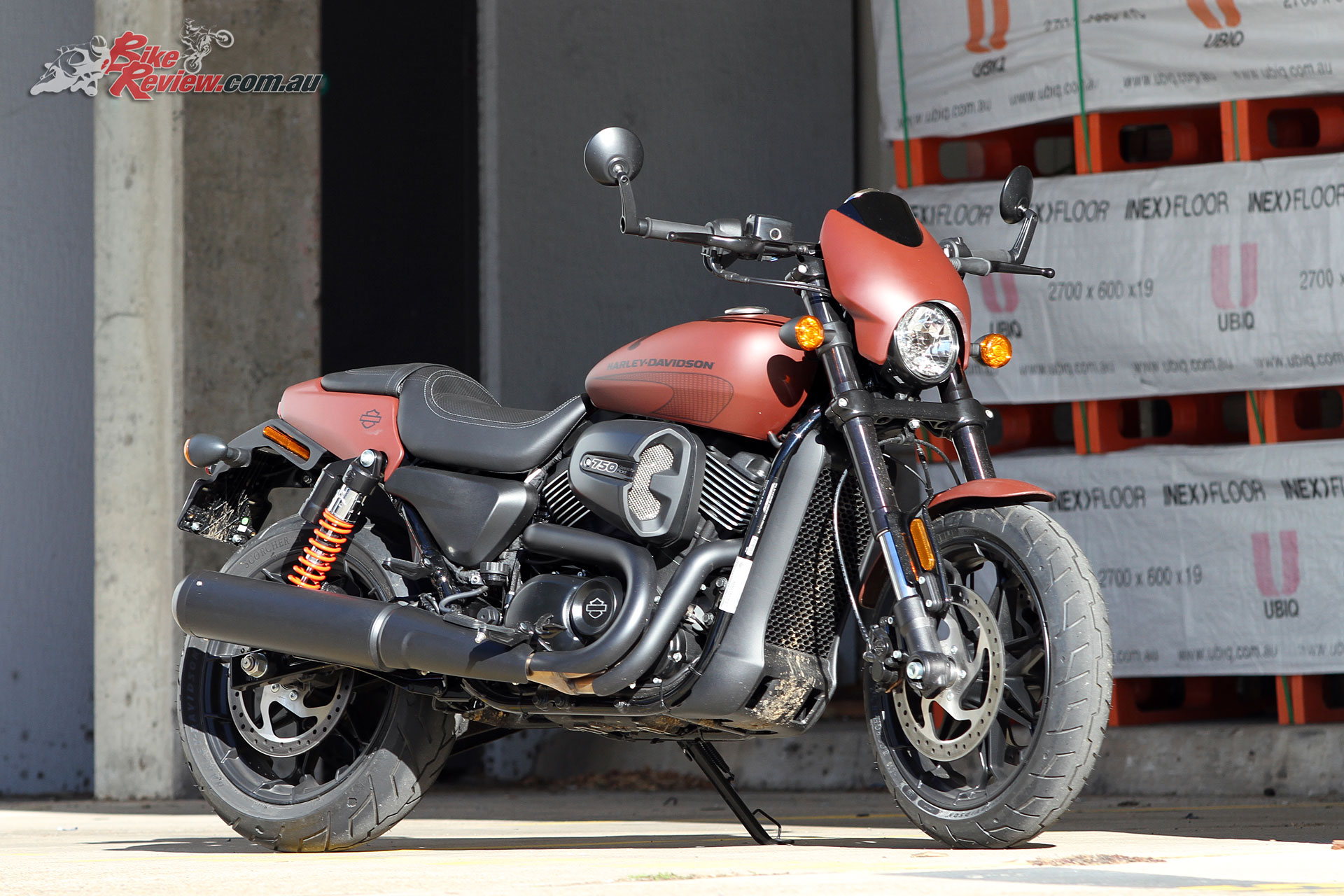 Harley-Davidson Street Rod in Red Iron Denim